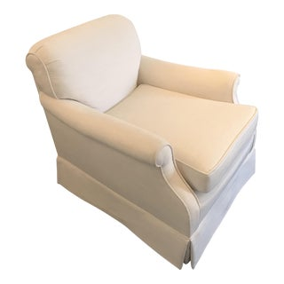 Custom Pindler Upholstered Swivel Club Chair