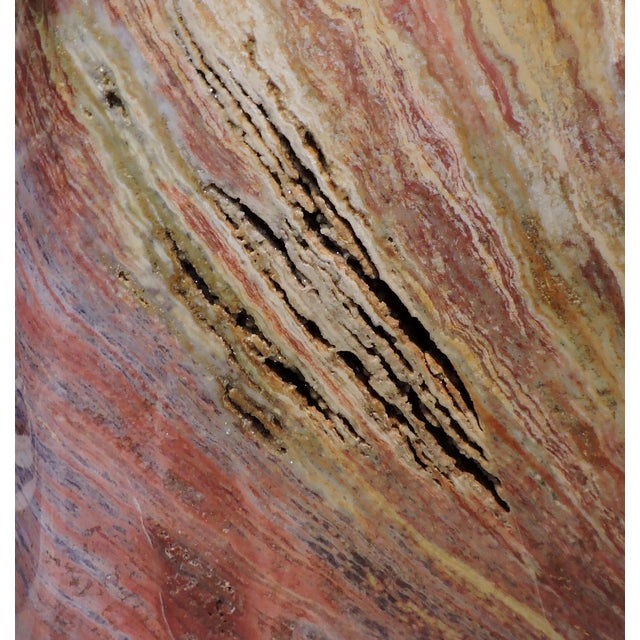 15th Century & Earlier Red and Yellow Polished Mineral Slab For Sale - Image 5 of 6