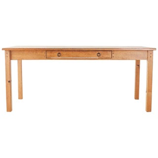 Rustic American Pine Farmhouse Dining Table For Sale