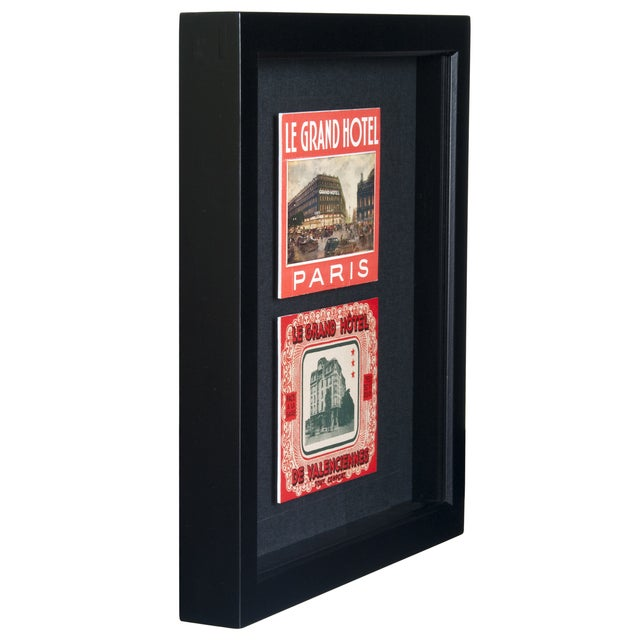 Framed French Grand Hotel Luggage Labels - Image 2 of 2
