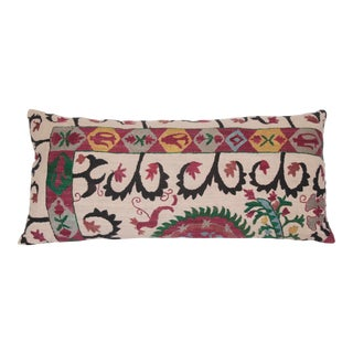 1980s Embroidery Suzani Lumbar Bedding Pillow Cases For Sale