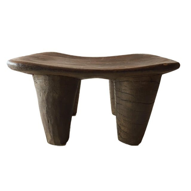 Brown Senufo Wood Kids Milk Stool I . Coast For Sale - Image 8 of 8