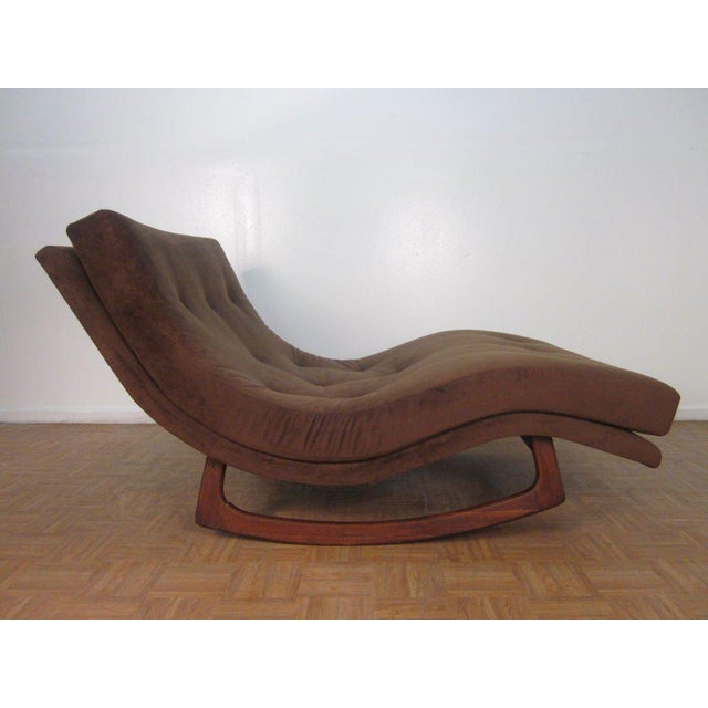 Mid-Century Modern Adrian Pearsall Sculptural Double Wide Rocking Chaise For Sale - Image 3 of 5