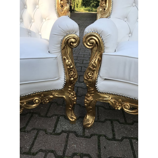1940's Italian Rococo Living Room Set- 3 Pieces For Sale In Miami - Image 6 of 12