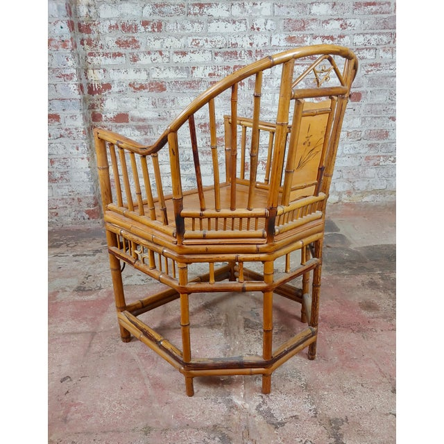 Brown Brighton Pavilion Chinoiserie Chippendale Bamboo Armchairs Circa 1920s - A Pair For Sale - Image 8 of 10