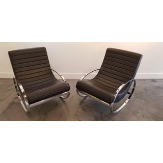 Pair Renato Zevi Ellipse Rocking Lounge Chairs Preview