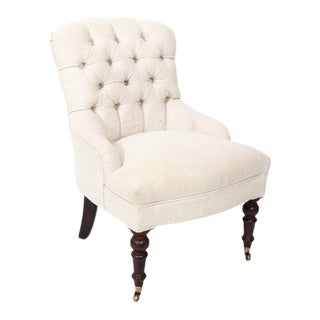 Upholstered Slipper Chair For Sale