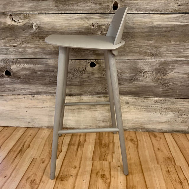 Modern David Geckeler Muuto Nerd Molded Plywood Barstool For Sale - Image 9 of 13