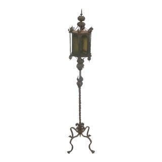 Pair of Italian Wrought Iron Floor Lamps