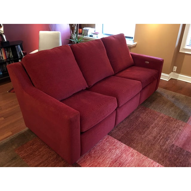 Dual Reclining Pindler Fabric Sofa Chairish