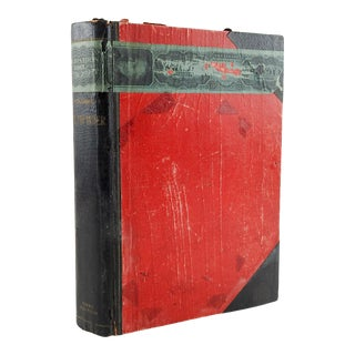 Antique Wooden Pathfinder Xmas Edition Book Shaped Cigar Box 1901 For Sale