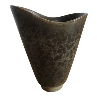 Carl-Harry Stalhane Mid-Century Green Glazed Vase For Sale