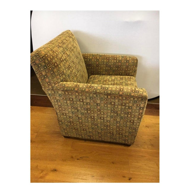 Mid-Century Modern Maurice Villency Mid-Century Modern Upholstered Arm Club Chair For Sale - Image 3 of 10