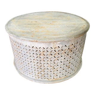 Contemporary Round Pierced Work Coffee Table For Sale