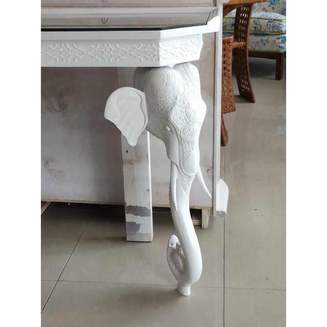 Gampel-Stoll White Elephant Console Table - Image 2 of 12