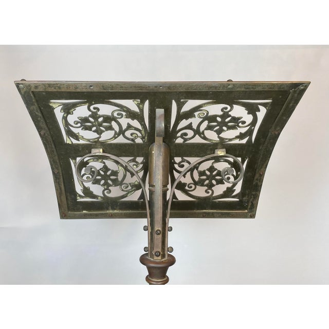19th Century Brass Music Stand / Lectern For Sale - Image 9 of 13