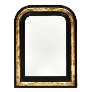 Napoleon III Period Black and Gold Mirror For Sale