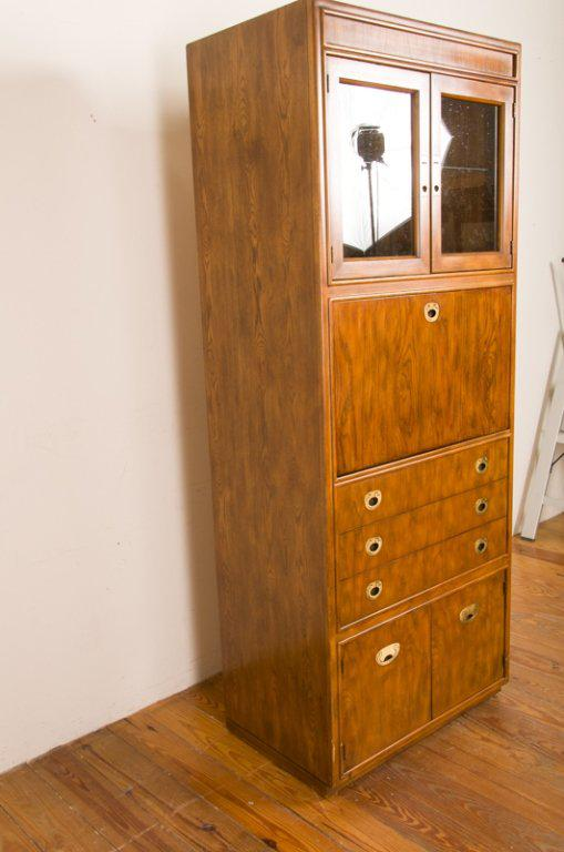 Drexel Mid Century Modern Campaign Style Bar/Cabinet, Circa 1960 For Sale