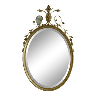 Friedman Brothers Gold Framed Adam Style Mirror For Sale