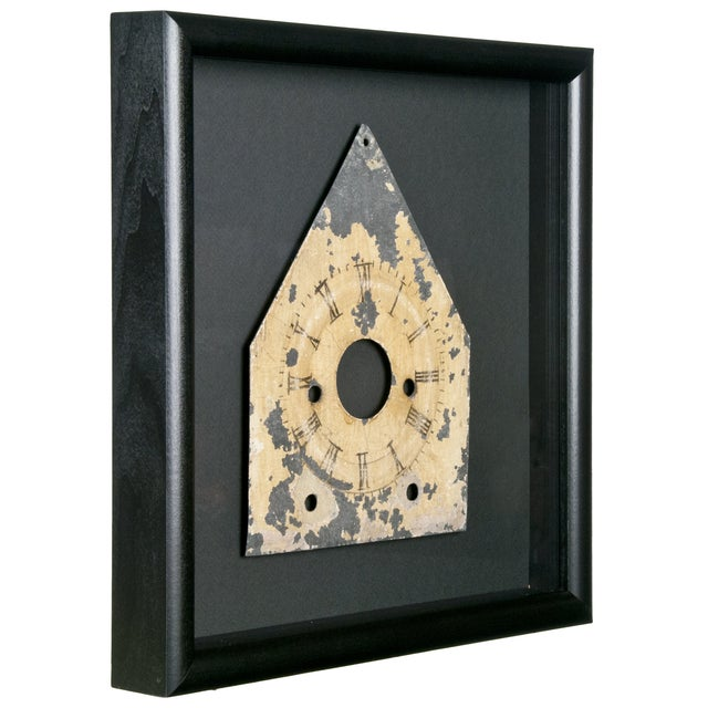 Framed Antique Galvanized Metal Clock Face - Image 2 of 2