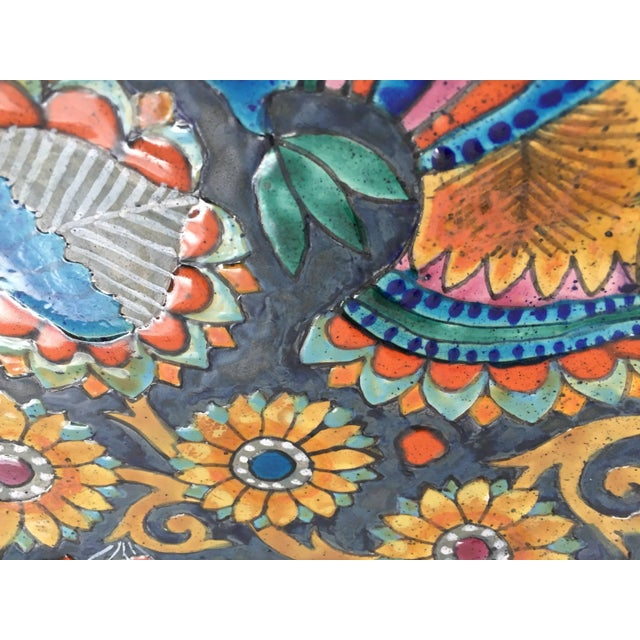 Mid 20th Century 1960s Vintage Marjatta Taburet Quimper France Hand-Painted Charger For Sale - Image 5 of 10