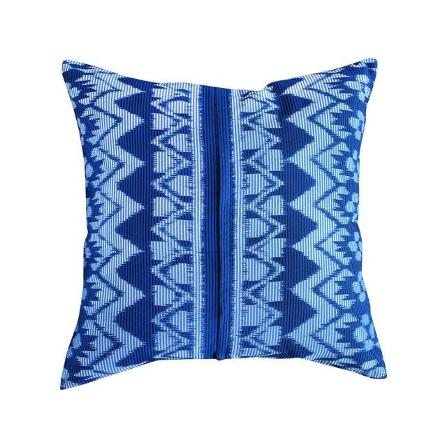 "Javanese ""Indigo Ratu"" Ikat Pillow - Image 1 of 3"