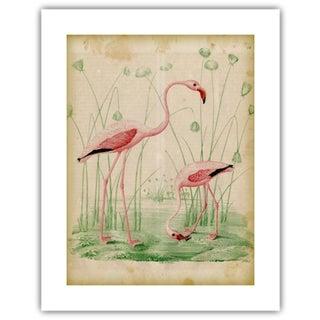 Antique '2 Flamingos' Archival Print Preview