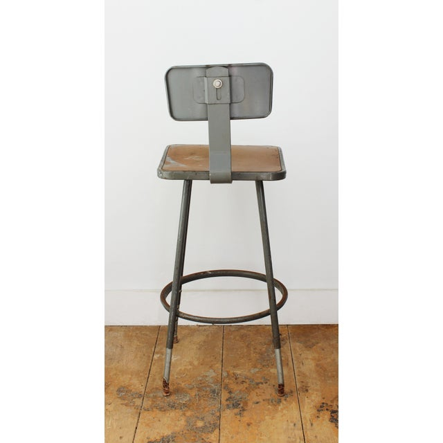 industrial bar home stool zin and metal white adjustable wood