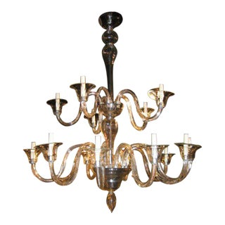 Murano 15 Light Chandelier (Pair Available) For Sale