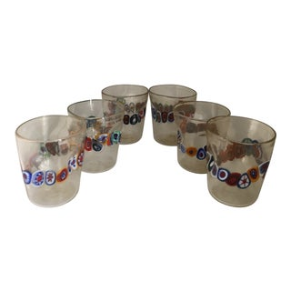"Acqua ""Goto"" Murrisa in Vetro DI Murano Drinking Glasses - Set of 6 For Sale"