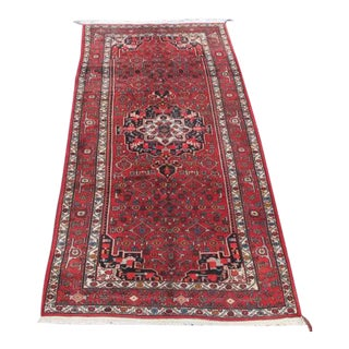 Handmade Semi Antique Persian Bordjalou Runner - 4′11″ × 9′1″