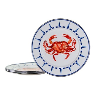 Dinner Plates Crab House - Set of 4 For Sale