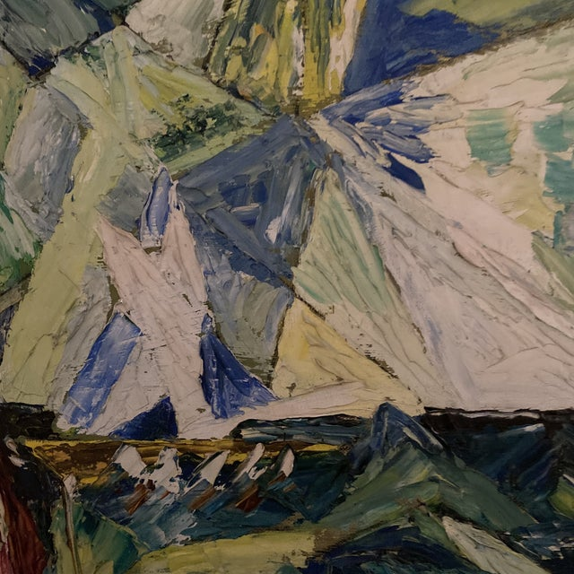 Abstract Expressionism 1960s Seascape Painting, Framed For Sale - Image 3 of 9