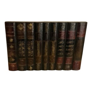 Maitland-Smith Leather Book Factice For Sale