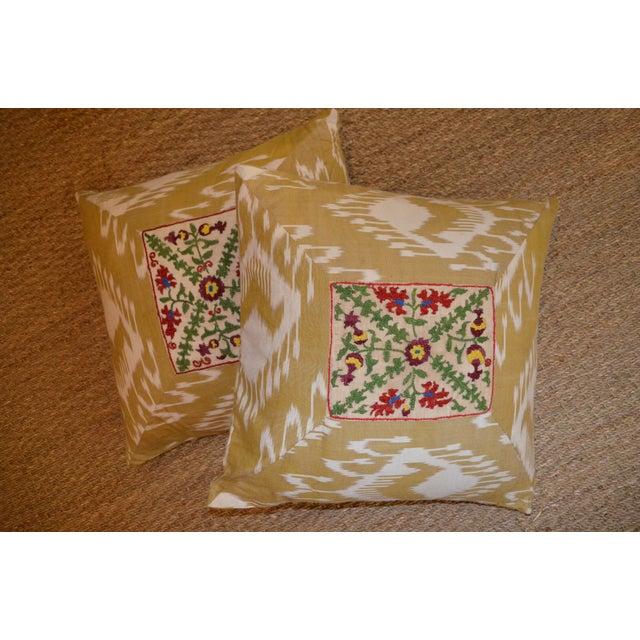 Ikat Suzani Pillowcases - A Pair - Image 3 of 3
