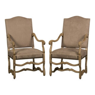 1900 Antique French Mouton Armchairs - a Pair For Sale