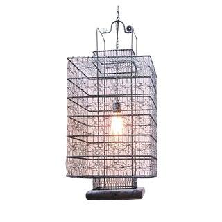 Heibe Wire Work Jonk Lantern & Edison Bulb For Sale