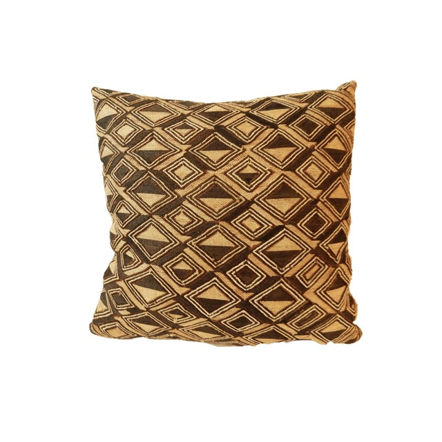 African Kuba Textile Pillow For Sale - Image 4 of 7