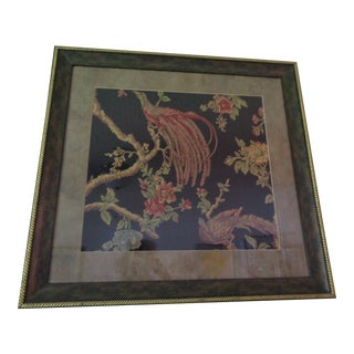 Large Antique French Embroidery - Framed For Sale