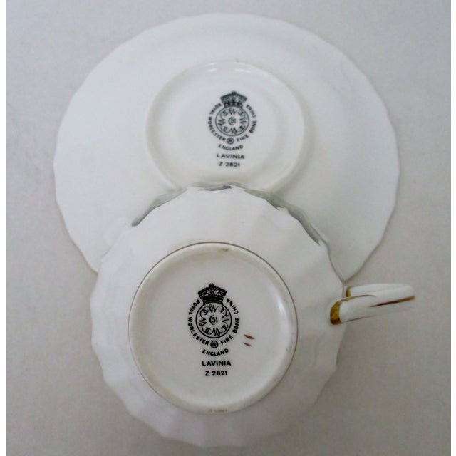 Vintage Royal Worcester Cups & Saucers - 10 Pieces For Sale In Los Angeles - Image 6 of 6