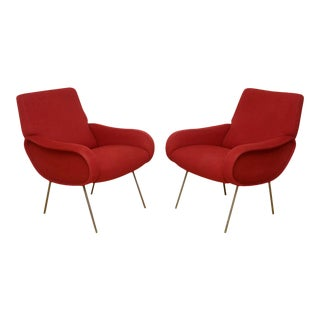 Pair of Italian Modern Armchairs, Marco Zanuso For Sale