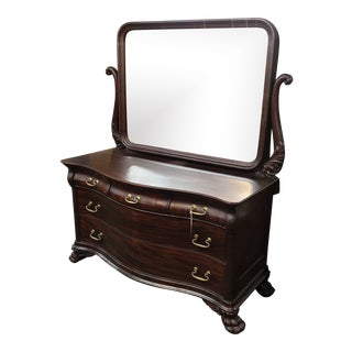 1800s Mahogany Dresser With Mirror For Sale