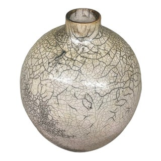 1980s John Lonergan Porcelain Raku Vase For Sale