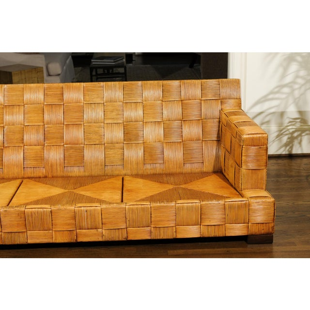 Tan Stunning Block Island Collection Sofa by John Hutton for Donghia, circa 1995 For Sale - Image 8 of 11