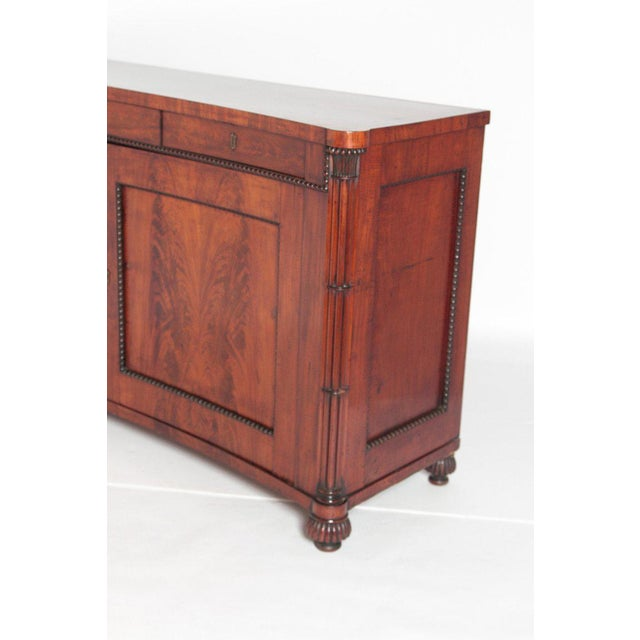 Early 19th Century Regency Bookmatched Crotch Mahogany Cabinet For Sale - Image 4 of 13