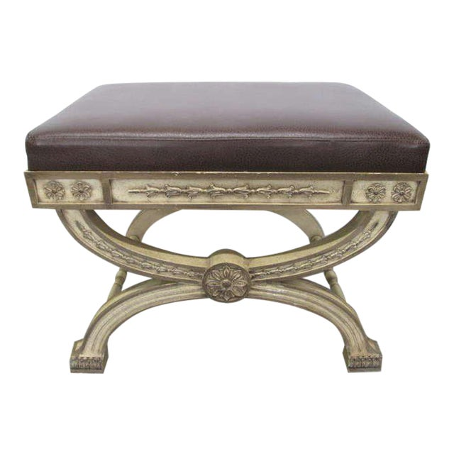 Italian Rococo Painted Bench For Sale