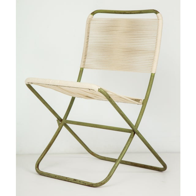 White 1950s Greta Grossman Folding Chairs - a Pair For Sale - Image 8 of 13