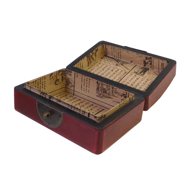Chinese Red Rectanuglar Box - Image 4 of 5