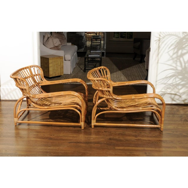 Caning Spectacular Pair of Custom Commissioned Loungers After Viggo Boesen For Sale - Image 7 of 13