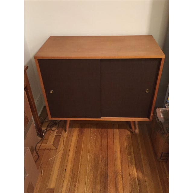 Paul McCobb Planner Group Grass Cloth Cabinet - Image 2 of 5